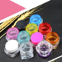 Wholesale G Square Plastic Cosmetic Container Square Cream Jar Sample Jar g PS Cosmetic Packaging