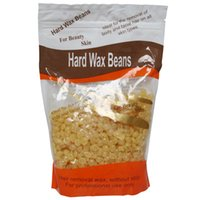 Wholesale Free paper depilatory wax hair removal wax beans honey flavor solid wax pearl for men women body hair epilation G pack