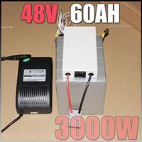 Cheap 48V 60Ah LiFePO4 Battery Pack ,3000W 48v Electric Bicycle Battery + BMS Charger 48v lithium scooter electric bike battery pack