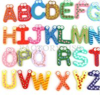 alphabet number magnets - 36 Colourful Wooden Magnetic Numbers Alphabet Letters Baby Educational Toys Fridge Magnet Stickers