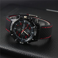 Wholesale Foreign trade explosion men watch car racing silicone quartz men s watch the students watch the value line