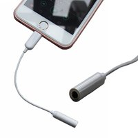 Wholesale Earphone Cable Adapter for iPhone plus male to mm Audio Jack Headset Converter Cable