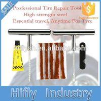 Wholesale Haifei Brand Stainless Steel set of Tools for Car Repair Equipment Tubeless Tire Repair Kit Tyre Puncture Plug
