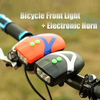 bell bicycle headlight - New in Bicycle Light Electronic Horn Cycling Bike Head Front Highlight Lights Super Loud Bell Lamp LED Headlight M1031