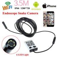 android phone len - WIFI Endoscope mm Len LED Waterproof Borescope Inspection Video CCTV Camera Videcam Inspection Phone Android IOS Endoscope