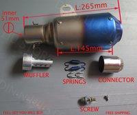 Wholesale Universal akrapovic motorcycle exhaust muffler silencieux moto tubo escape fit for Ninja fz400 cbr cbf f800r z750