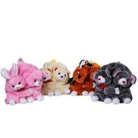 anime bunny girl - Lovely School Backpack Double Pack Kawaii Animals Plush Backpack Bunny Bag Soft Toys For Girls Birthday Gift XFB020