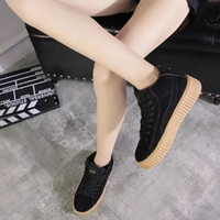 Wholesale 2016 NEW BASKET CREEPERS GLO RIHANNA SNEAKERS CASUAL WOMEN S SPORTS RUNNING JOGGING SHOES WOMENS FASHION CLASSIC SHOES