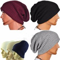 Wholesale 2016 Fashion Men Women Warm Head Wrap Stripe Winter Hats for Women Beanies Caps Knitted Hats Skullies Beanie MZ0054