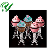 acrylic serving trays - Cupcake Pedestal Holder Stand cookies fruit acrylic display tower buffet serving tray wedding party decorations kids birthday event supplies