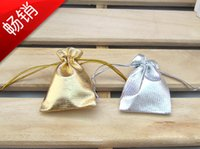Wholesale pcsSilver Plated Gauze Jewelry Bags x9 cm x7cm x12cm x18cmJewelry Gift Pouch Bags For Wedding favors With Drawstring