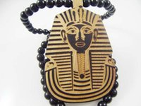 american egypt - Pharaoh of Egypt Good Wood Hip Hop Wooden Necklace Rosary Jewery colors