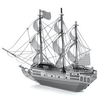 Wholesale Metal DIY nano D three dimensional puzzle Assembling model pirate boat model