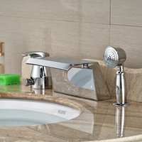 bathroom sink units - And Retail Promotion Widespread Bathroom Tub Faucet Waterfall Chrome Tub Sink Mixer Tap W Hand Unit