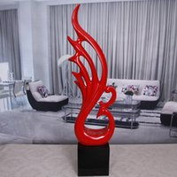 antiques phoenix - Abstract phoenix wings statue Modern abstract sculpture crafts ornaments home decorations soft mounted sculpture model room hotel Phoenix