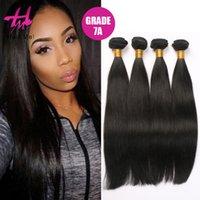 4Pcs / lot perruque brésilienne droite droite 7A de cheveux humains 8 à 30 pouces Longueur de cheveux de qualité supérieure tissent les extensions de cheveux vierges humaines