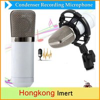 Wholesale 25 Condenser Microphones mm Wired Condenser Sound Recording Microphone with Shock Mount for Radio Braodcasting