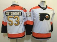 Wholesale 2016 Mens Philadelphia Flyers Shayne Gostisbehere White rd th Anniversary Patch Ice Hockey Jerseys Free Drop Shipping holypote