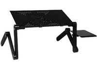 Cheap 100% New 360 Degree Portable Folding Black Metal Laptop Computer Stand Table Desk support Bed Office Sofa