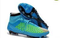 b songs - Survival Song high top wild card slip FG soccer shoes spike Goetze exclusive kangaroo leather boots natural grass soccer