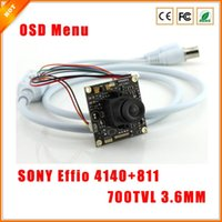 Wholesale 1 quot TVL mm Sony Effio e CCD CCTV Camera Board with OSD Menu Chipboard for Security Camera