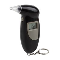 Wholesale Quick Response LCD Alcohol Tester Digital Alcohol Detector Breathalyzer Police Alcotester Backlight Display Alcohol Monitor