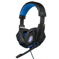 Wholesale Brand New USB mm LED Stereo Game Gaming Headset Headphone Earphone With Mic Microphone For Laptop PC Computer Gaming Movie