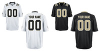 Wholesale HOT SALE Men s New Orleans Saint Custom Elite Football Jerseys High Quality Stitched Any Name Number You Decide Two Colors Allowed