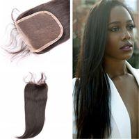 best hair wigs - quot Best peruvian straight hair Closure X4 Free Middle Part peruvian straight top lace closure virgin human hair closures
