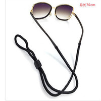 Wholesale Travel sports glasses hanging rope chain pipe For Sunglasses new fashion Eyewear Accessories black brown