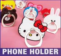 Wholesale Universal phone Holder For iphone mobile phone ring stent simplest universal smartphone mount for iphone s cartoon holder