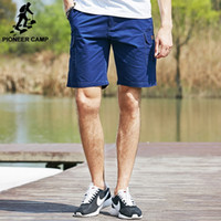 best cargo - Pioneer Camp Fashion Men Cargo Shorts Cotton Men Shorts Pockets Loose Shorts male Solid Casual Shorts Homme Best Gift Cheapest Price