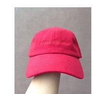 black felt hat - casquette Red I Feel Like Pablo Hat Kanye West The Life Of Pablo Merch Season EMBROIDERED GLASTONBURY UNSTRUCTRED DAD CAP rose hat