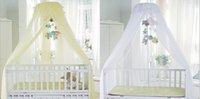 Wholesale Baby Bed Netting Canopy Mosquito Net Dome Elegent Lace Insect Stopping Net Color New
