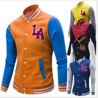 baseball uniforms design - HOT men s winter high quality cotton velvet long sleeved hit color baseball uniform MEN JACKET T67