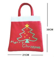 bamboo tree gift - Creative Christmas Tree Pattern Candy Bag Handbag Home Party Decoration Gift Bag Christmas Supplie