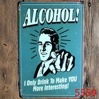 alcohol shopping - save water drink best beer alcohol retro Coffee Shop Bar Restaurant Wall Art decoration Bar Metal Paintings x30cm tin sign