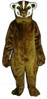 badger fur - wild badger Mascot Costume ADULT SIZE badger theme fur anime cosply mascotte costumes carnival fancy dress kits