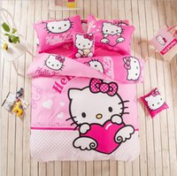 Wholesale Cotton cartoon Cute children Princess Bedding Sheet Three Piece Sets Of Four Free