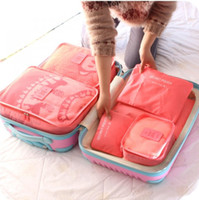 Wholesale New Korean travel bag waterproof clothing underwear finishing package travel bag suitcase piece