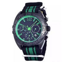 auto sales suppliers - Hot sale sponsored supplier luxury brand watches men chronograph quartz PVD watch green needles green black band Watch Men dress Watches