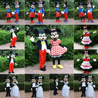Wholesale 2016 NEW fursuit mascot for sale Mickey and Minnie Mouse mascot cartoon character costume Halloween animal costumes