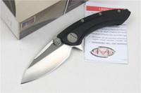 alloy shark - microtech Whale shark black G10 D2 TC4 titanium alloy halo V Nemesis knife Hunting Pocket Knife collection knives Xmas gift for men