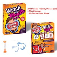 Wholesale 2016 Brand New Chrismas Gift Speak Out Game Watch Ya Mouth Funny Open Mouth Guard Party Board Game best price