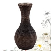ancient chinese vases - Chinese style restore ancient ways handmade vase highend rattan Home Furnishing lobby decorated living room decoration vase