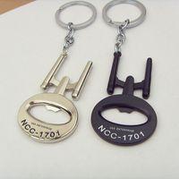 alloy enterprises - NEW Arrival Star Trek Bottle Opener Keychains USS Enterprise NCC Metal Alloy silver black keyring chain for fans souvenirs