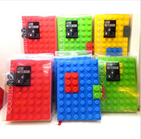 Wholesale 2016 LEGO blocks notebook Creative stationery A6 notepads Silica bricks notepad best gift for children