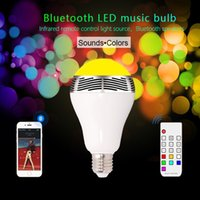 base speakers - Wireless E27 B22 Bluetooth Led Speaker Smart LED Bulb LED RGB Light E27 B22 Base Wireless Music Player with Remote Control