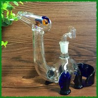 acrylic glass cleaner - Glass pipe blue and clean color dino glass water pipes glass bongs oil rigs with slitted cuts perc and mm joint size