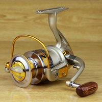 Wholesale Fishing Reel Gold Metal BB Speed Ratio The Spinning Wheel Type EF1000 Ocean Sea Boat Ice Tackle Aluminum High Quality